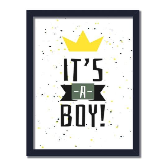 Quadro Decorativo It´s A Boy Branco