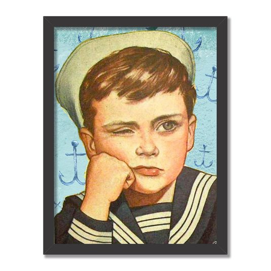 Quadro Decorativo Jovem Marinheiro Entediado