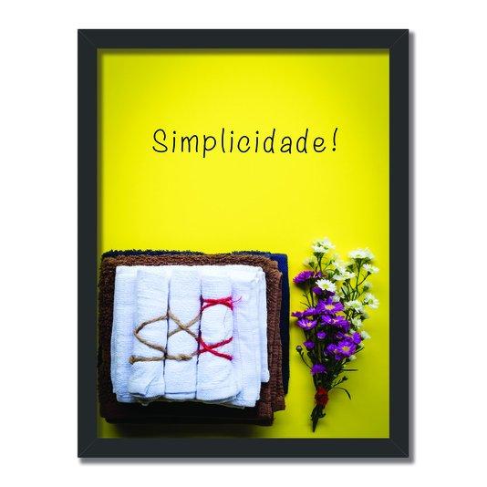 Quadro Decorativo Lavanderia Simplicidade
