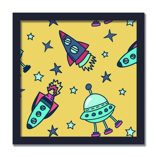 Quadro Decorativo Naves No Espaço Sideral