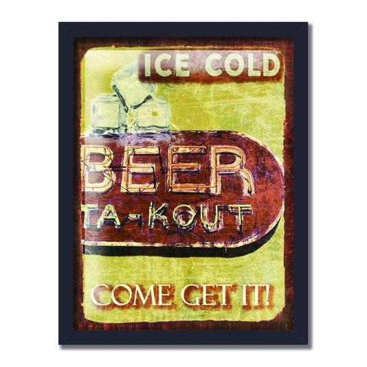 Quadro Decorativo Poster Ice Cold Beer