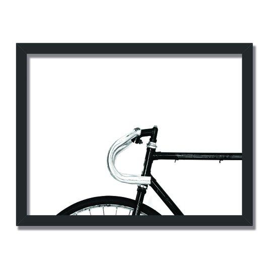 Quadro Decorativo Preto e Branco Bicicleta Vintage
