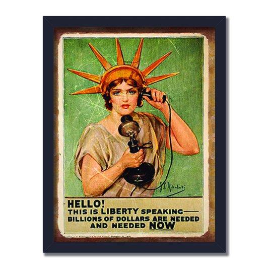 Quadro Decorativo Publicidade Antiga Hello!