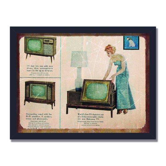 Quadro Decorativo Publicidade Antiga Televisão