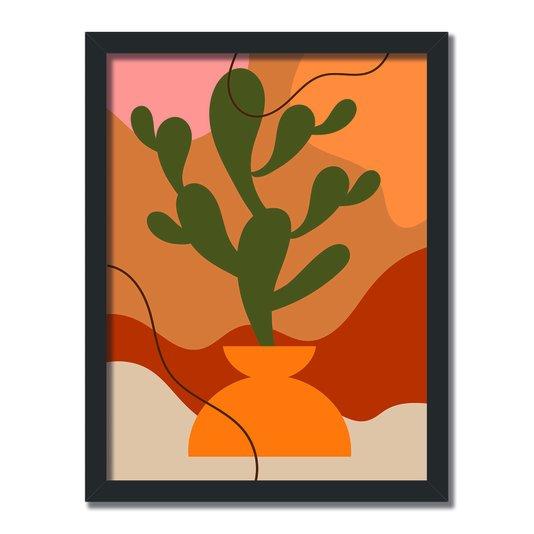 Quadro Decorativo Silhueta Cactus Verde
