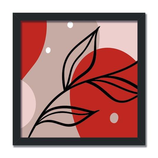 Quadro Decorativo Silhueta Folhas