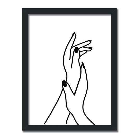 Quadro Decorativo Silhueta Mãos