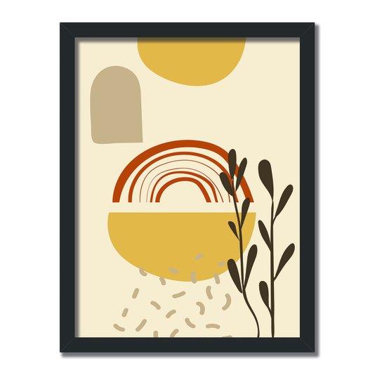 Quadro Decorativo Silhueta Sol