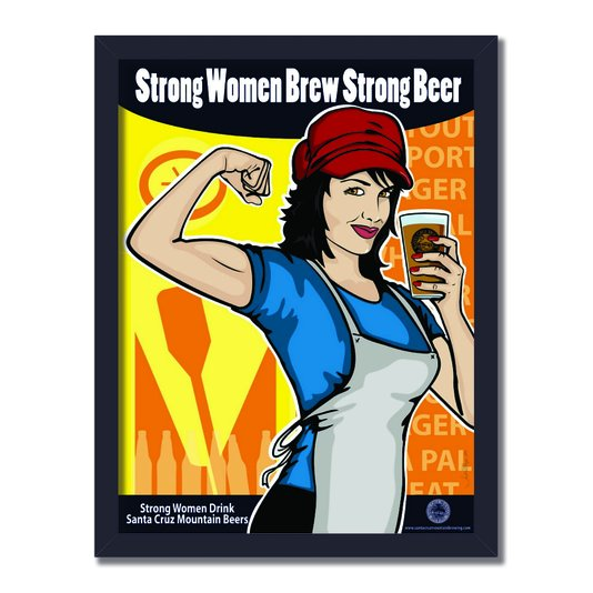 Quadro Decorativo Strong Women Brew Strong Beer