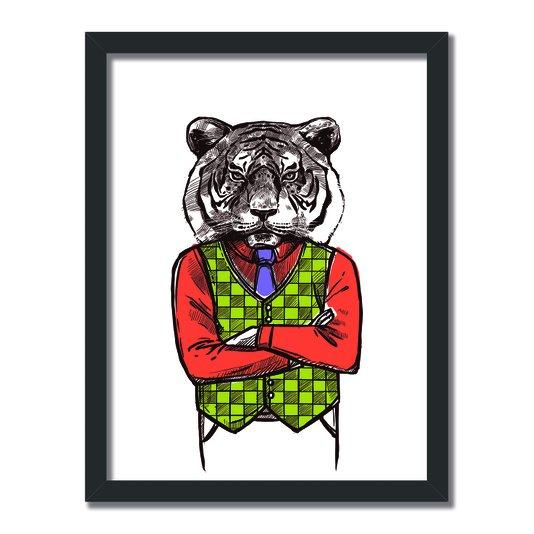 Quadro Decorativo Tigre Hipster