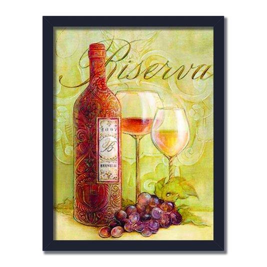 Quadro Decorativo Vinho Riserva