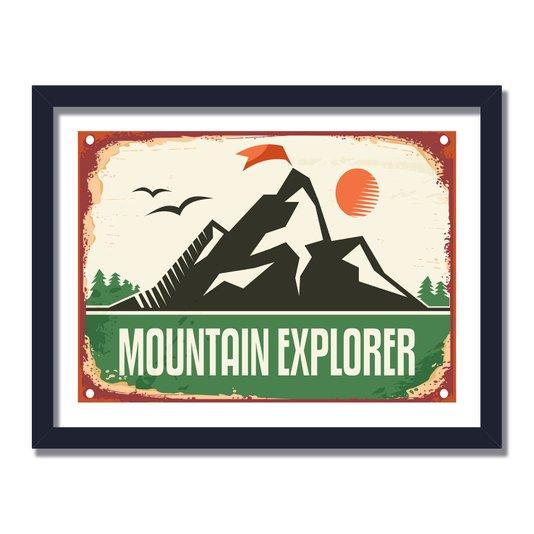 Quadro Decorativo Vintage Mountain Explorer