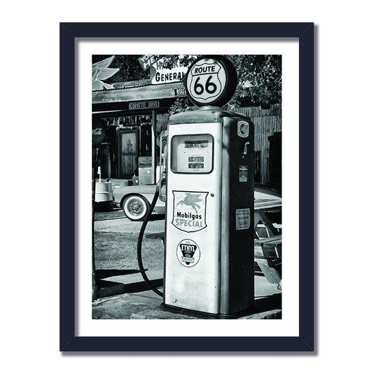 Quadro Decorativo Vintage Route 66 MobilGas Special