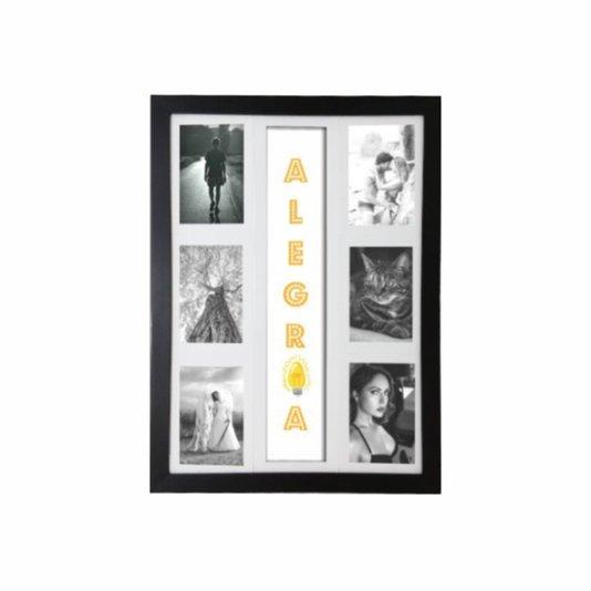 Quadro Painel de Parede para 6 fotos 10x15cm - Alegria