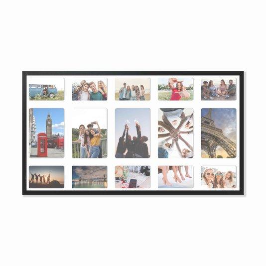 Quadro Painel de Parede para 5 fotos 15x21cm e 10 fotos 10x15cm