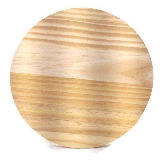 Tábua De Pinus Placa Redonda Clear Recortada Para Decoração