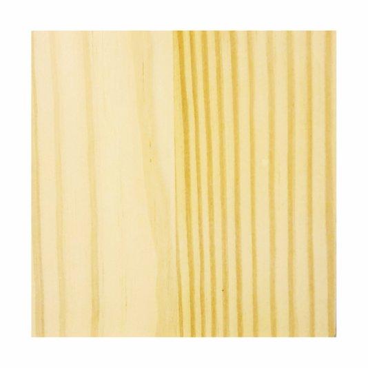 Tábua De Pinus Quadrada Clear para Artesanato - 15mm sem nó