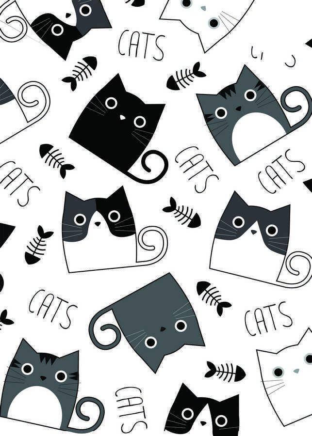 Placa Decorativa Vários Gatinhos Em Preto E Branco Frase Cats Kiaga