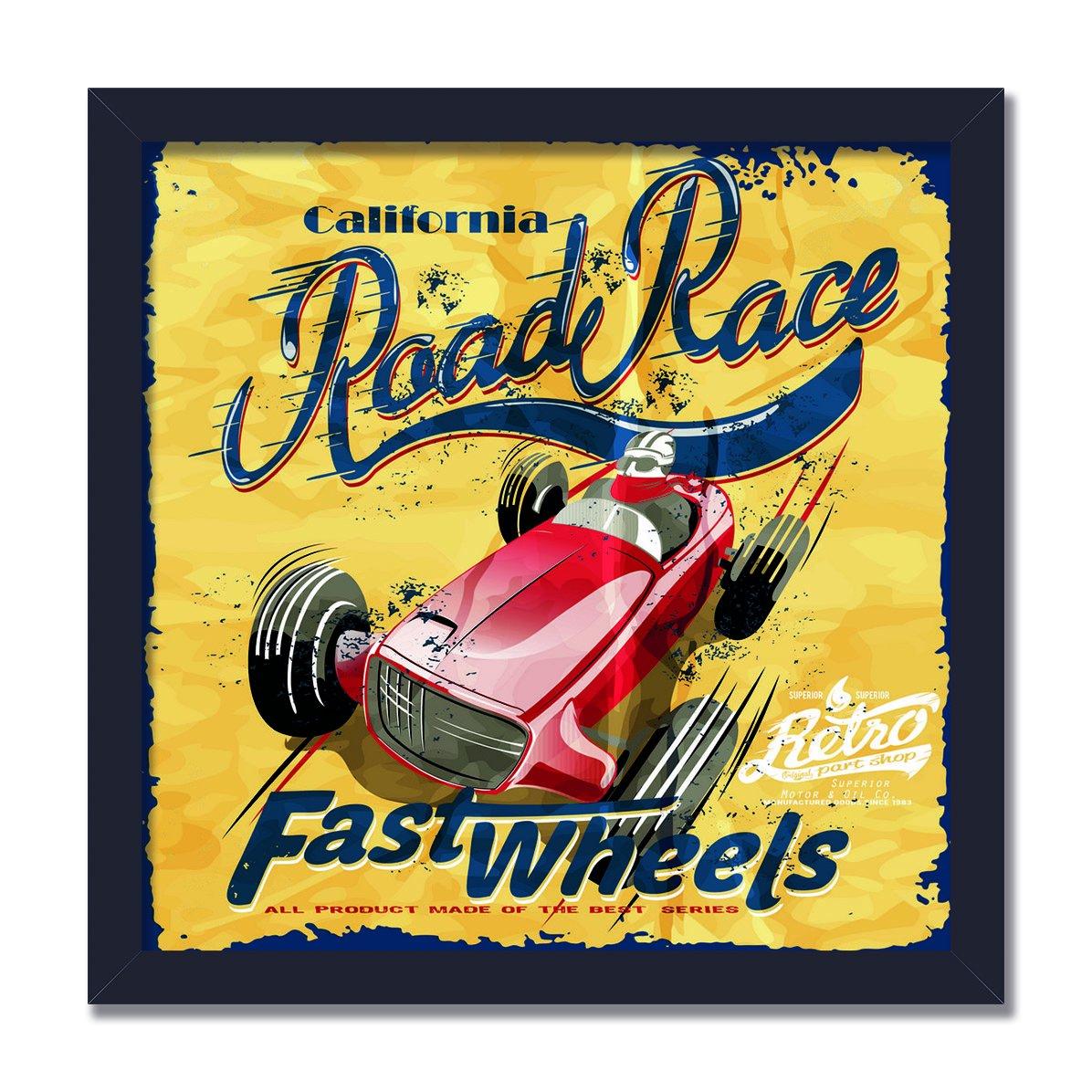 Quadro Decorativo Road Race Fast Wheels Kiaga