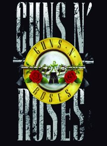 Placa Decorativa Poster Guns n' Roses