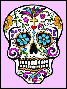 Placa Decorativa Caveira Mexicano