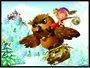 Placa Decorativa Infantil A Coruja no Castelo de Gelo