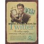 Placa Decorativa Vintage Twitter  The Sublime, Mighty Community With Just 140 Letters!