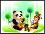 Placa Decorativa Infantil Urso Panda e O Menino