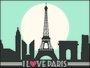 Placa Decorativa I Love Paris