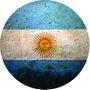 Placa Decorativa Redonda Bandeira da Argentina