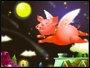 Placa Decorativa Infantil o Porco Voando