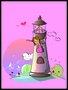 Placa Decorativa Infantil Menina Brincando no Farol