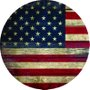 Placa Decorativa Redonda Bandeira dos Estados Unidos