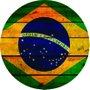 Placa Decorativa Redonda Bandeira do Brasil