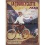 Placa Decorativa Bicicleta La Touricyclette Paris