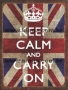 Placa Decorativa Vintage Keep Calm and Carry On