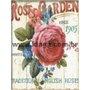 Placa Decorativa Flores Rose Garden