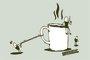 Placa Decorativa Grãos de Café