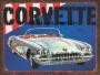 Placa Decorativa Carro Antigo Corvette