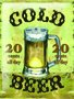 Placa Decorativa Cerveja Cold Beer
