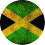 Placa Decorativa Redonda Bandeira da Jamaica