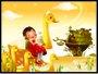 Placa Decorativa Infantil A Menina e os Patos