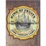 Placa Decorativa King Of Fruits Cool Vintage Label