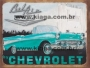Placa Decorativa Carro Antigo Bel Air by Chevrolet