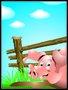 Placa Decorativa Infantil Porco Rosa
