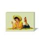 Quadro Painel em Tecido Canvas Pin-Up Mulher Vintage
