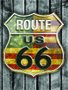 Placa Decorativa Route 66