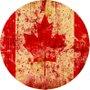 Placa Decorativa Redonda do Canadá