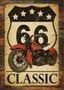 Placa Decorativa Route 66 Classsic
