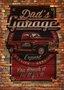Placa Decorativa Vintage Dad's Garage